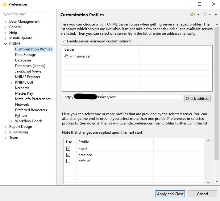 KNIME Server Profiles Simplify Installation