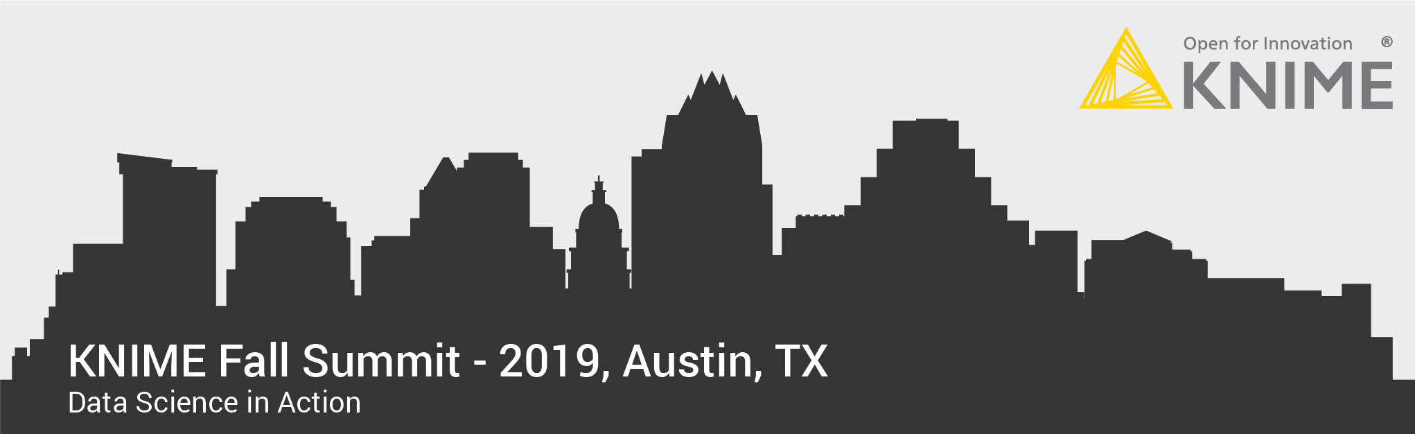 Banner for KNIME Fall Summit 2019 Austin TX