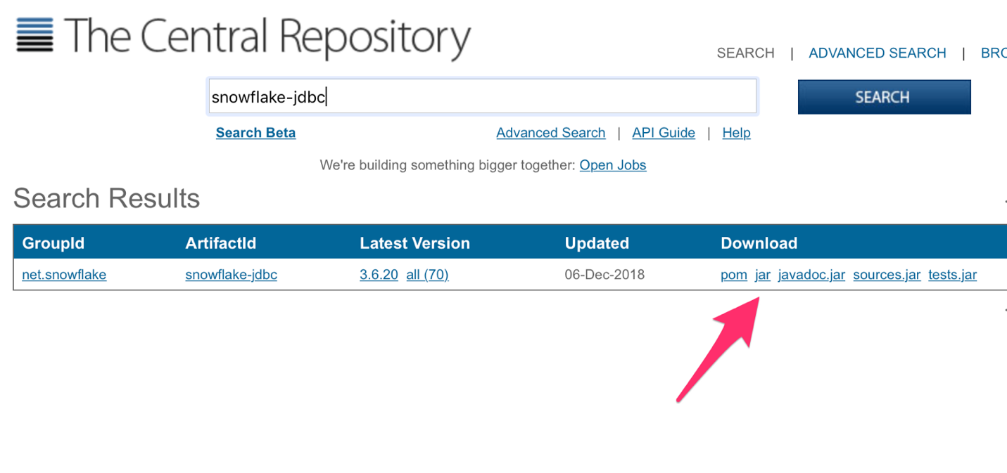 Saving the JDBC driver to a permanent directory