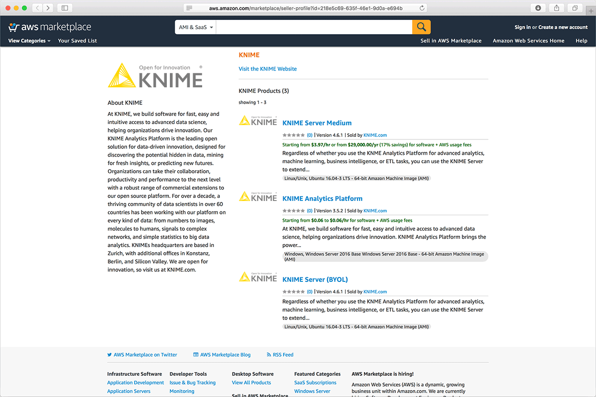 KNIME on Amazon Web Services | KNIME