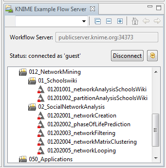 KNIME Example Flow Server