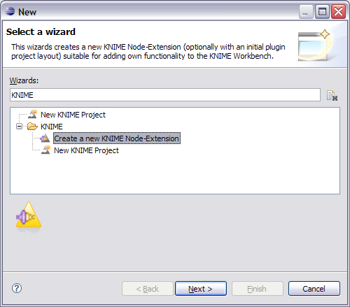 Create New KNIME Node Extension