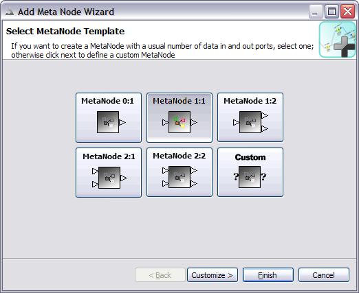 screenshot of meta node wizard first page