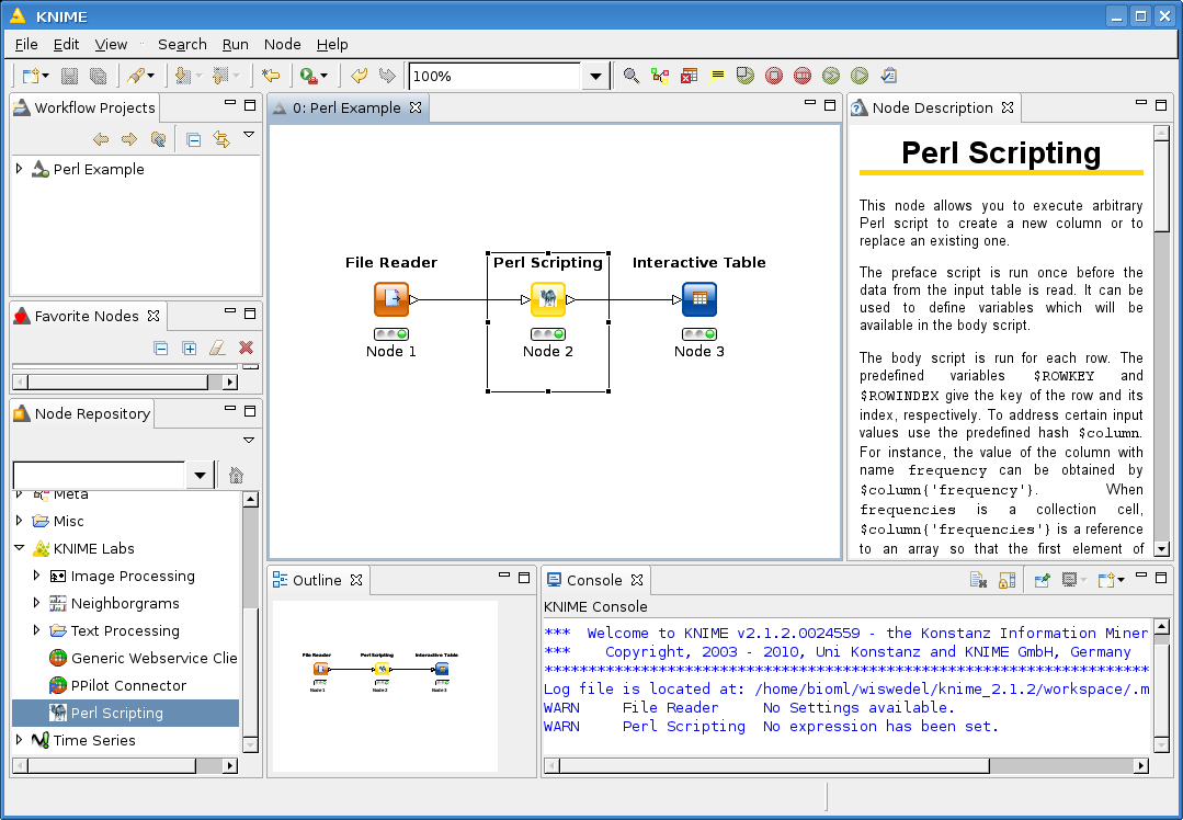 Perl scripting node knime perlflowg12058 kb biocorpaavc