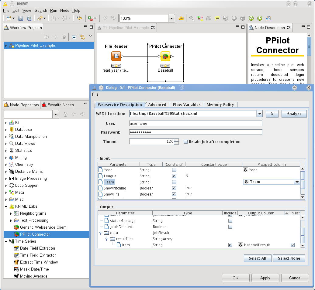Pipeline Pilot Connector | KNIME