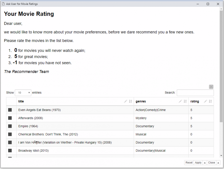 Movie Recommendations With Spark Collaborative Filtering