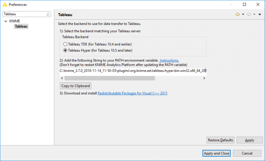 Connecting to Tableau with KNIME | KNIME