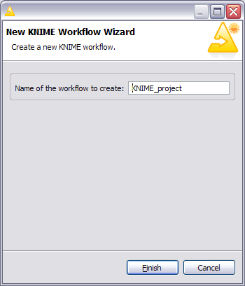 The KNIME new wokrlfow wizard