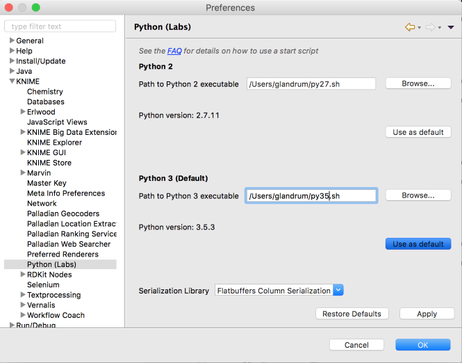 Setting up the KNIME Python extension  Revisited for Python