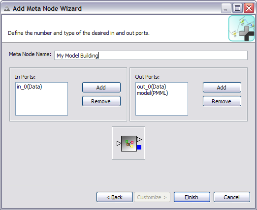 screenshot of meta node wizard second page
