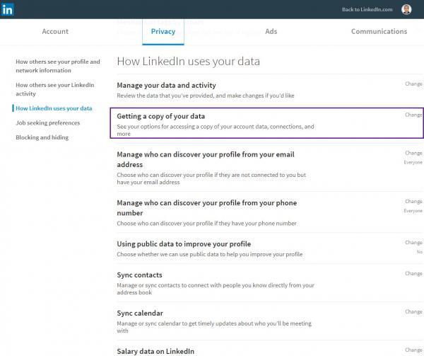 CV builder from LinkedIn profile