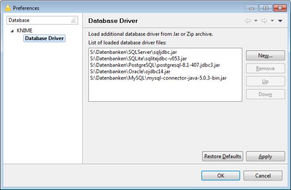 Database Documentation | KNIME