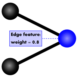 internal representation of a weighted edge