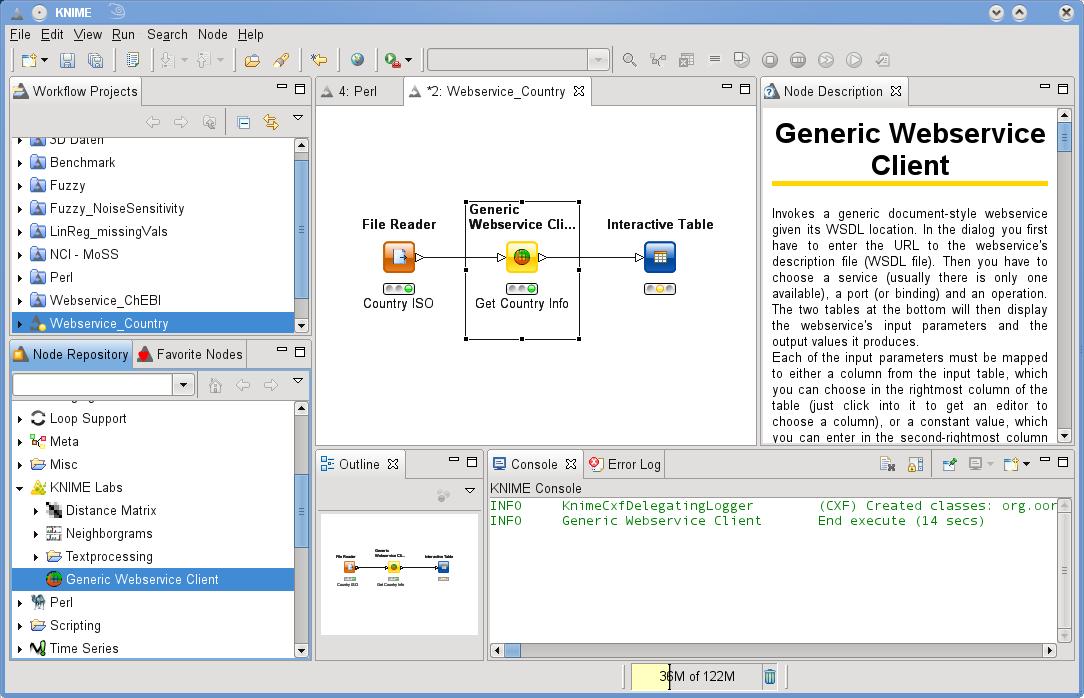 Generic Web Service Client Node   KNIME